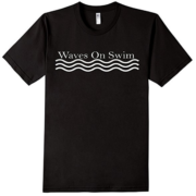 Waves on Swim Shirt Black