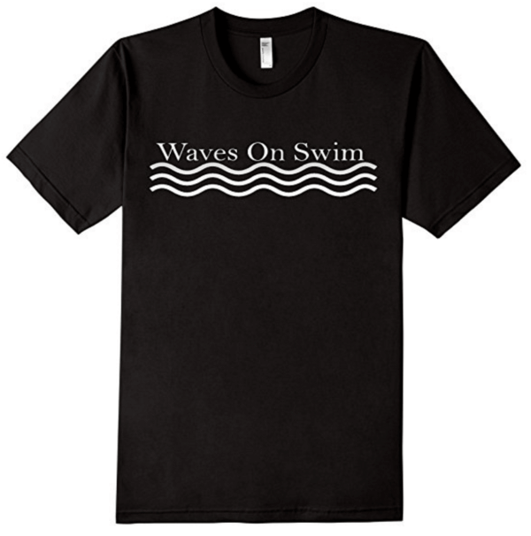 Waves on Swim Shirt Black