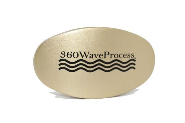 Gold 3WP Oval 360 wave brush