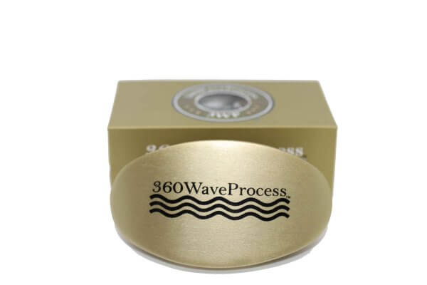 Gold 3WP Oval 360 wave brush