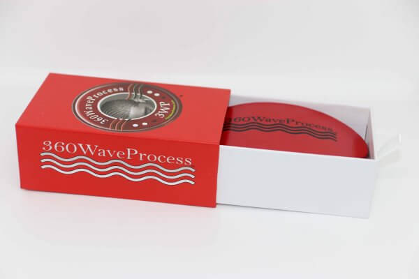 3WP Curved Oval Red 360 Wave Brush