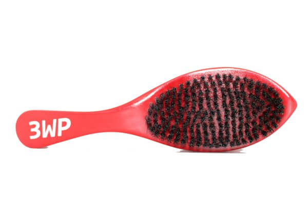 3WP Curved Red 360 Wave Brush handle