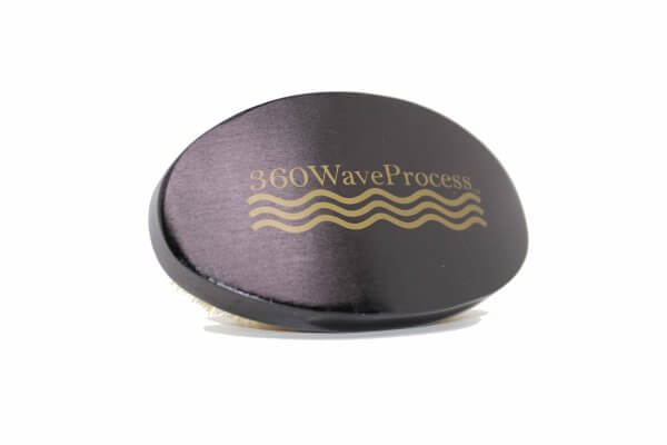 Curved Black 3WP oval 360 Wave brush
