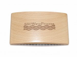 3WP wood grain square 360 wave brush