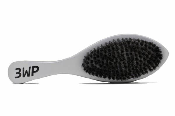3WP curved silver 360 wave brush handle