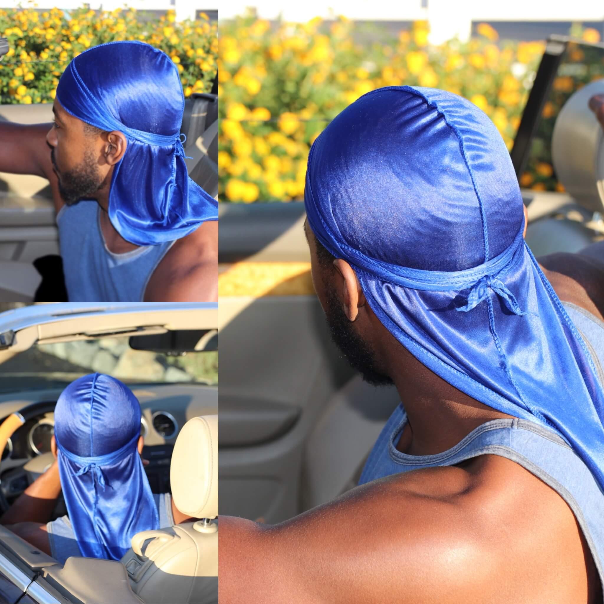 blue Silky durag