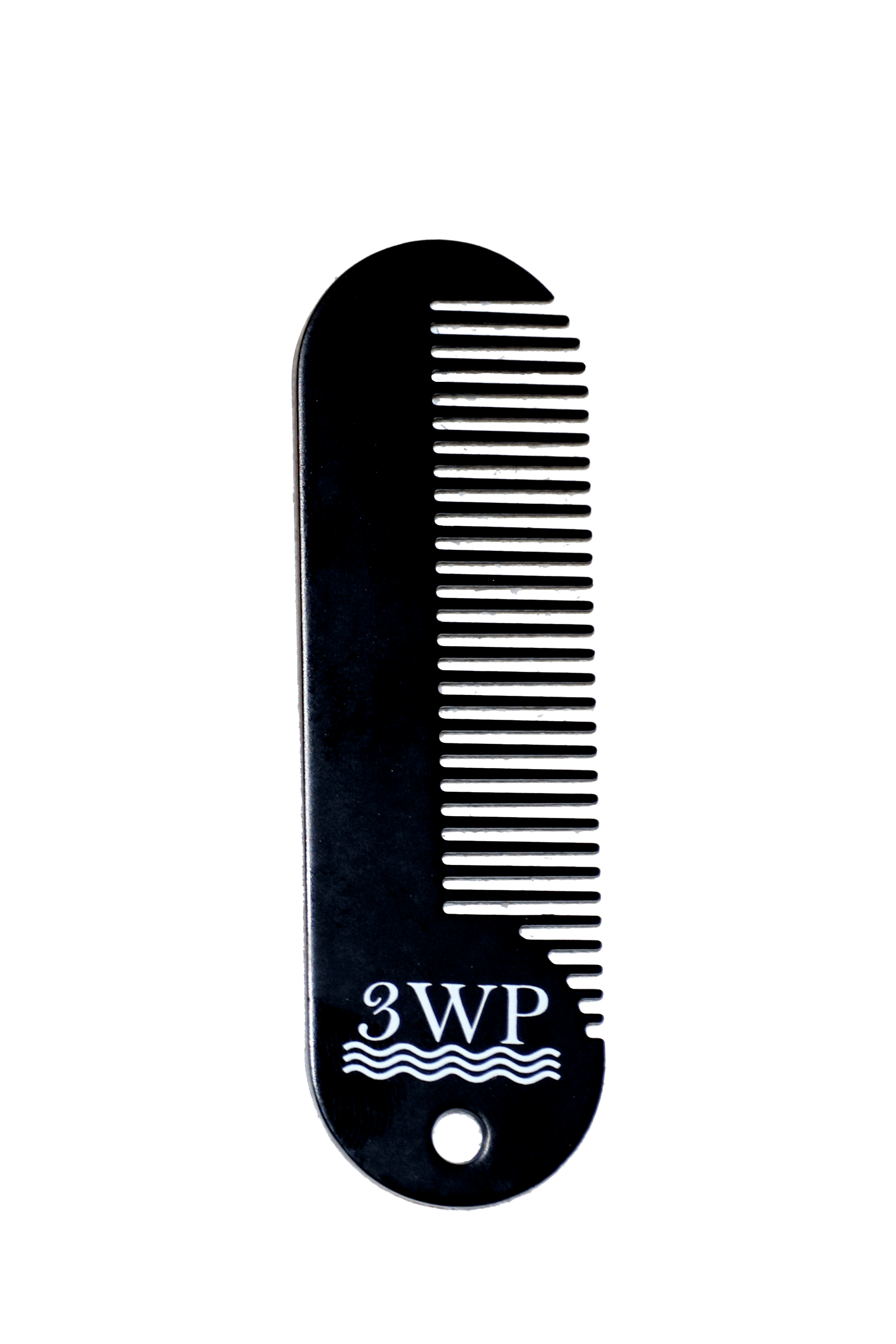 Black Metal 3WP Wave and Beard Keychain Comb
