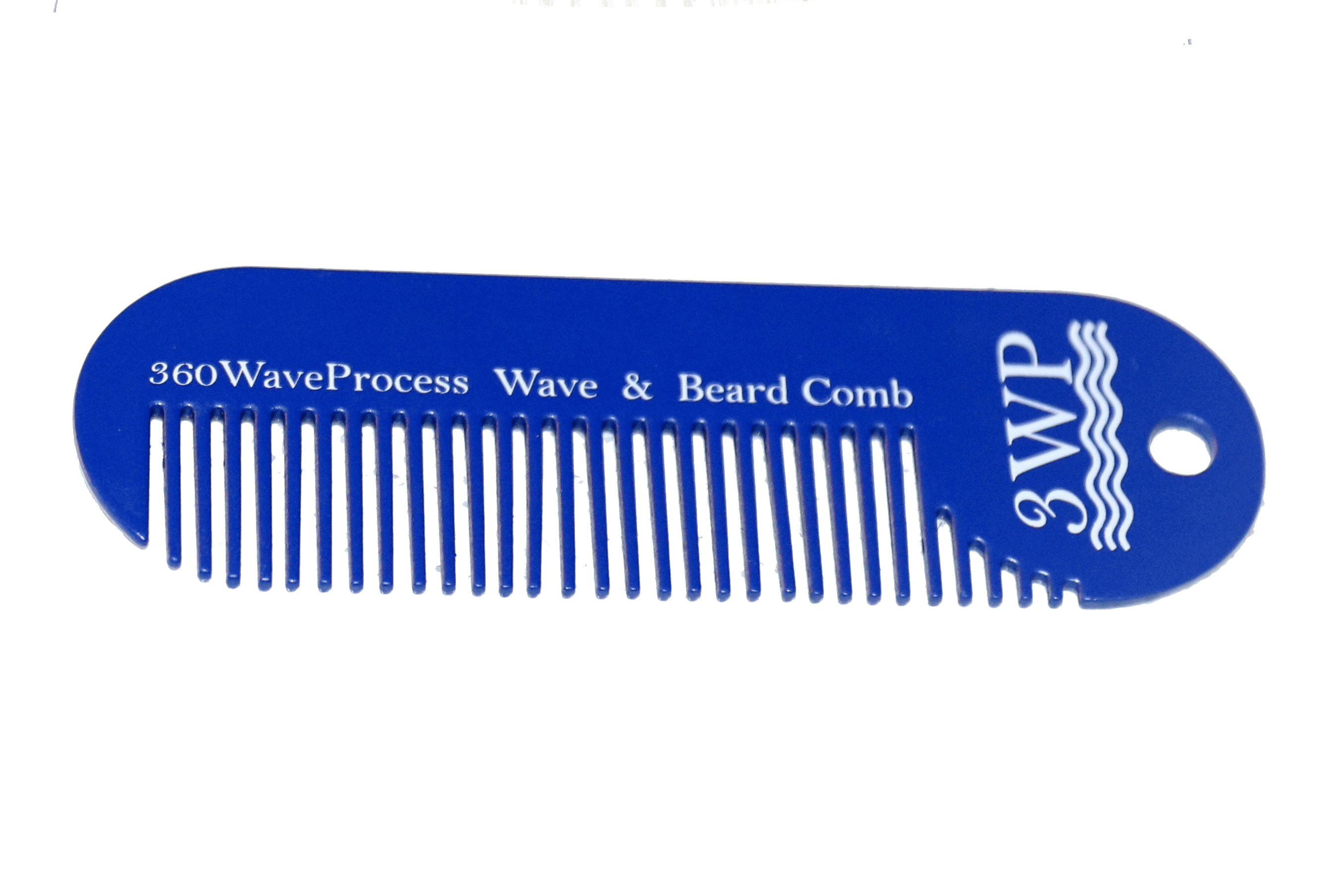 Blue Metal 3WP Wave and Beard Keychain Comb