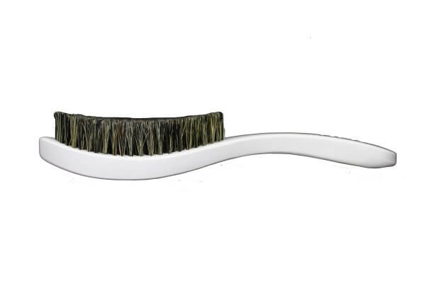3WP Curved White 360 wave brush handle