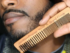 Wooden wave and beard comb