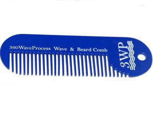 3WP Wave and Beard Keychain comb