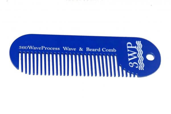 3WP Wave and Beard Keychain comb