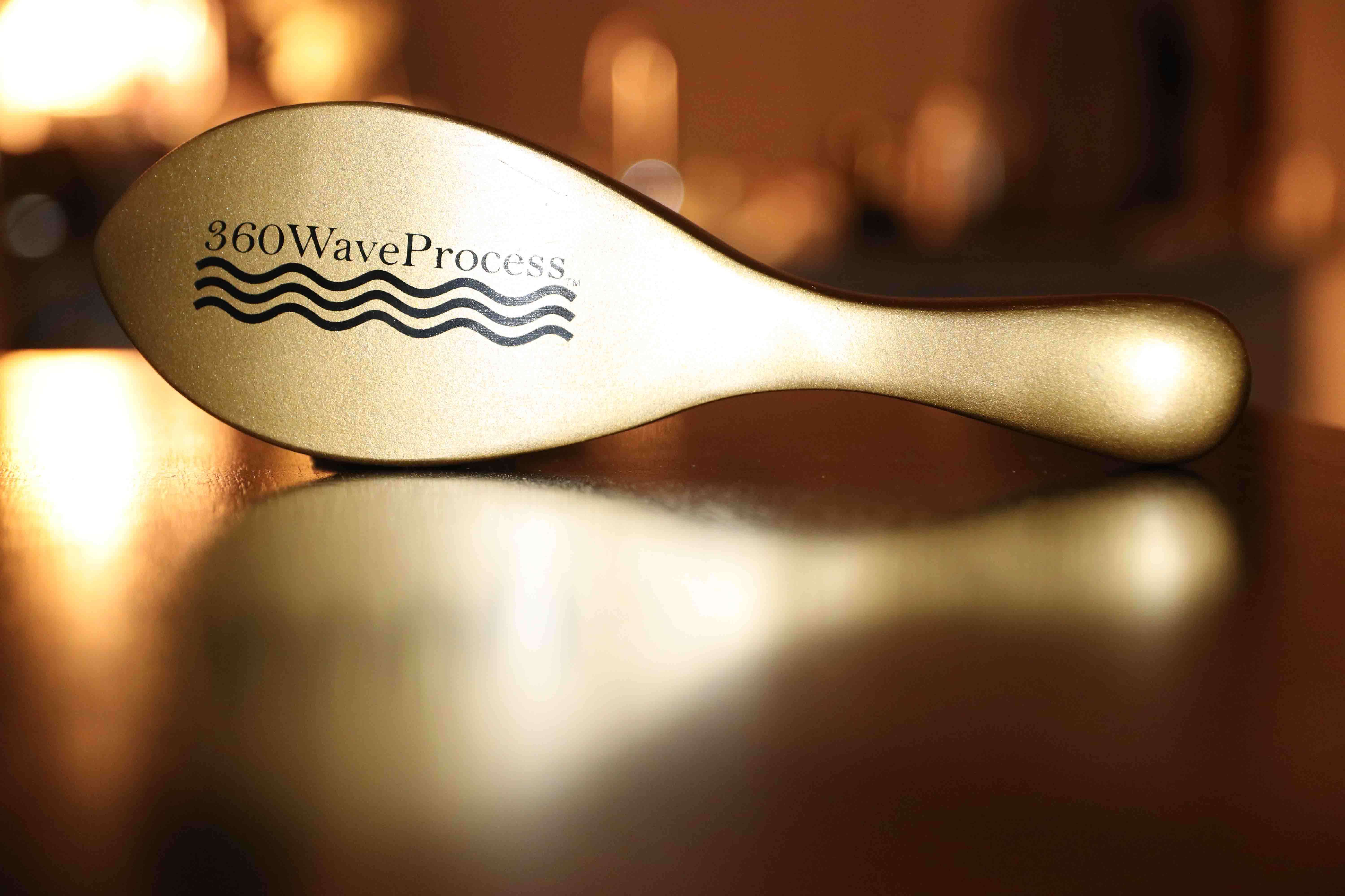 360 wave brush gold handle