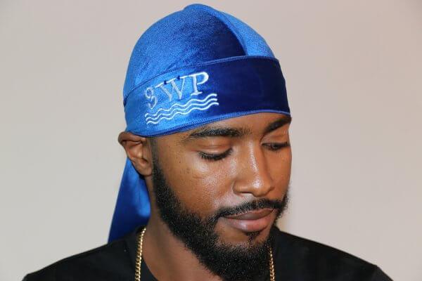 3WP Royal Blue Velvet Durag