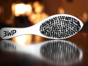 Silver 3WP Wave Brush Handle