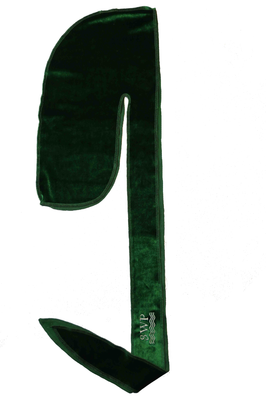 Green 3WP Velvet Durag