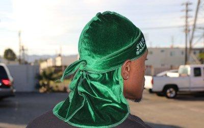 Green Velvet durag 3wp