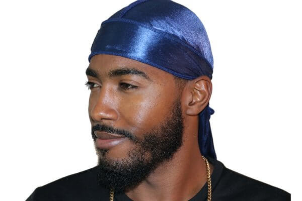 3WP Navy Blue Silky Durag