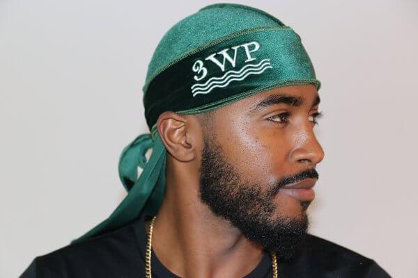 3WP Green Velvet Durag