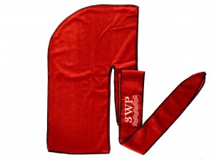 Red Velvet Durag Black Stiching