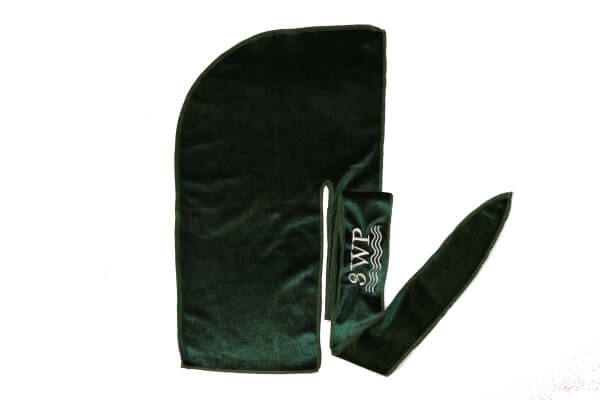 3WP Emerald Green Velvet Durag