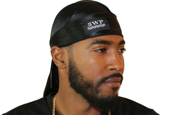 Black 3WP Silky Durag