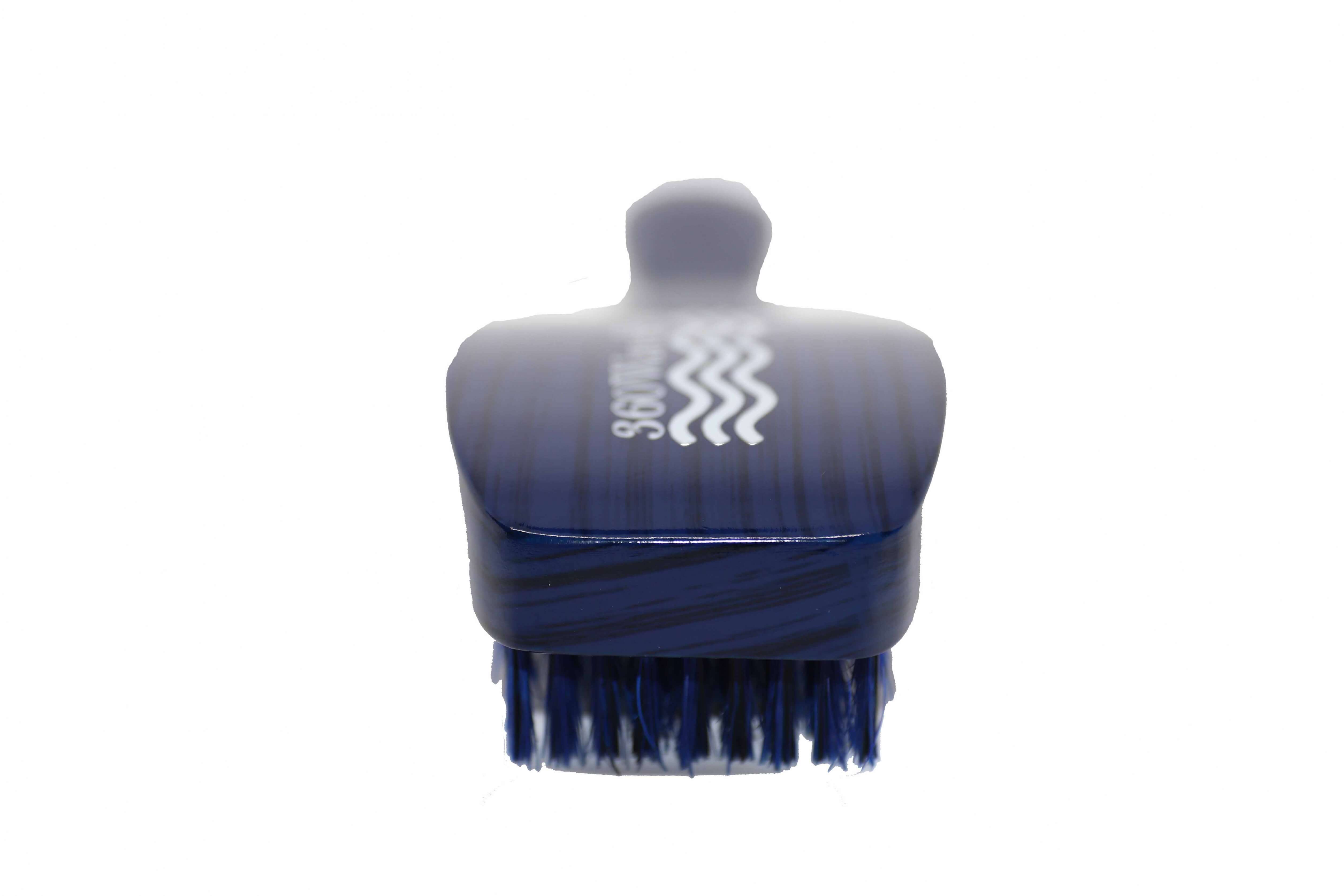 3WP Curved gloss blue 360 Wave Fork Breaker Brush handle