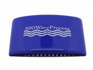 3WP s line Curved gloss blue 360 Wave Fork Breaker Brush