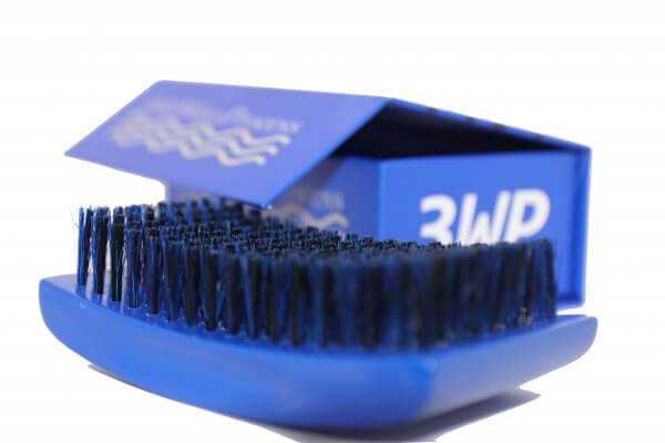 3WP s line Curved gloss blue 360 Wave Fork Breaker Brush
