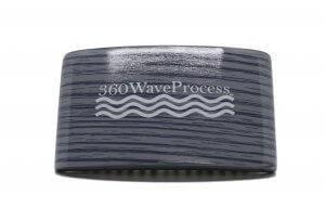3WP Curved gloss Grey 360 Wave Fork Breaker Brush s line