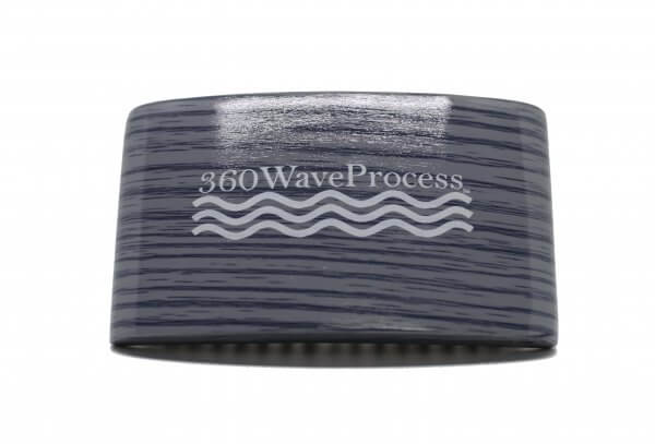 3WP Curved gloss Grey 360 Wave Fork Breaker Brush s line