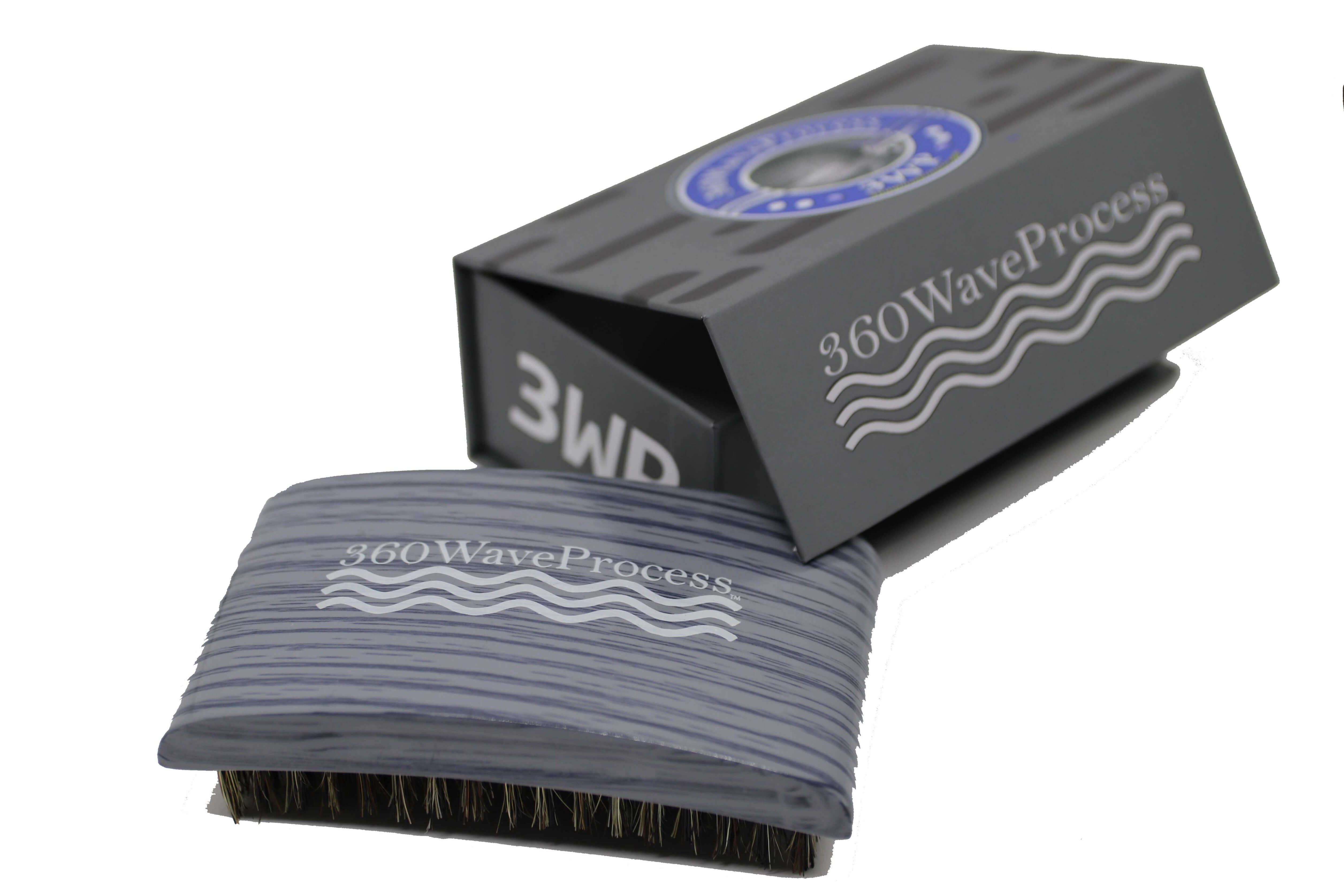 3WP s line Curved gloss Grey 360 Wave Fork Breaker Brush