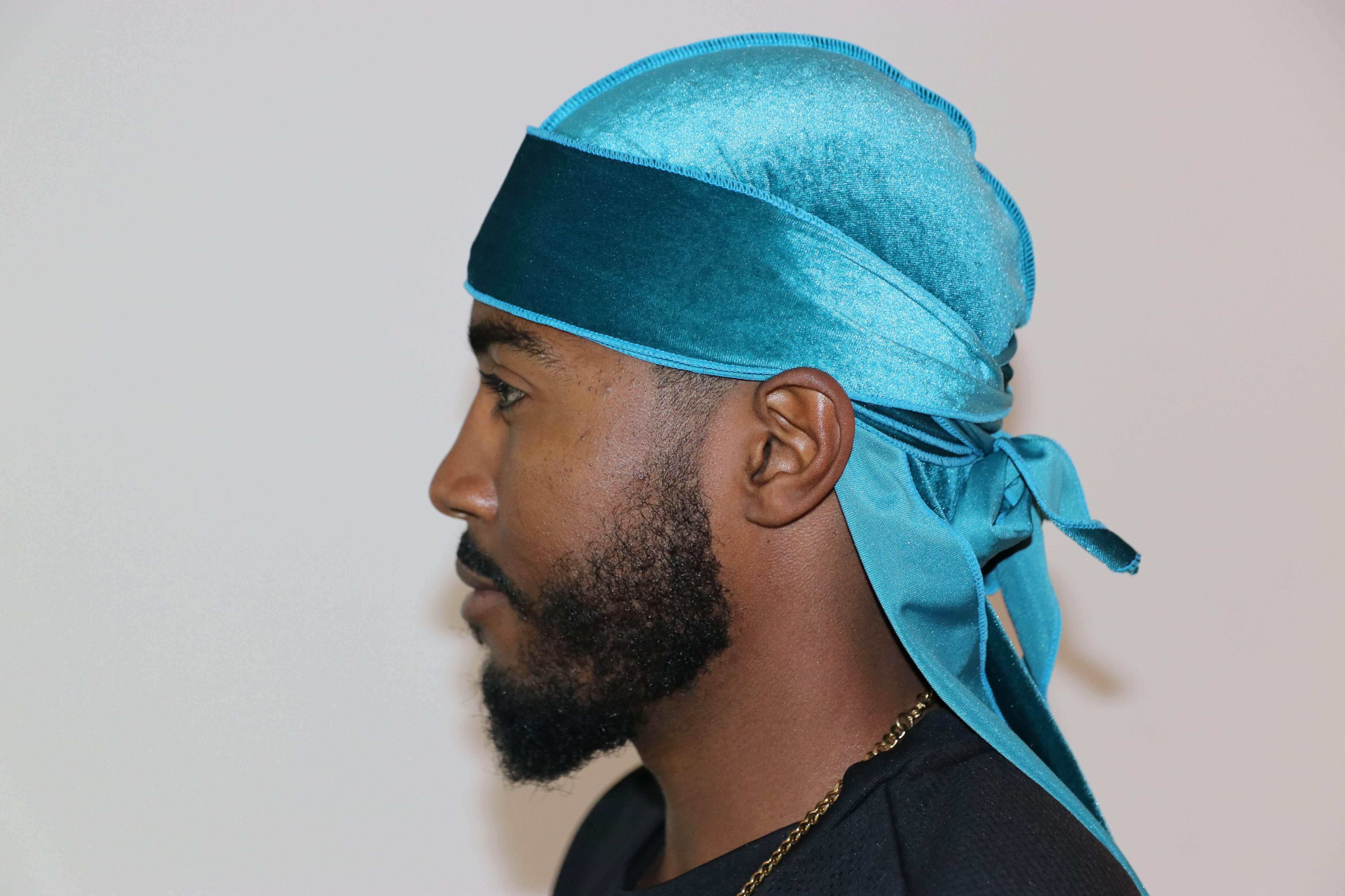 3WP Turquoise Velvet Durag