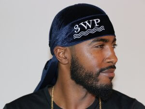 3WP Navy Blue Velvet Durag